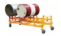 移动式油桶支架车
