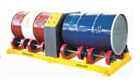 双桶油桶旋转器